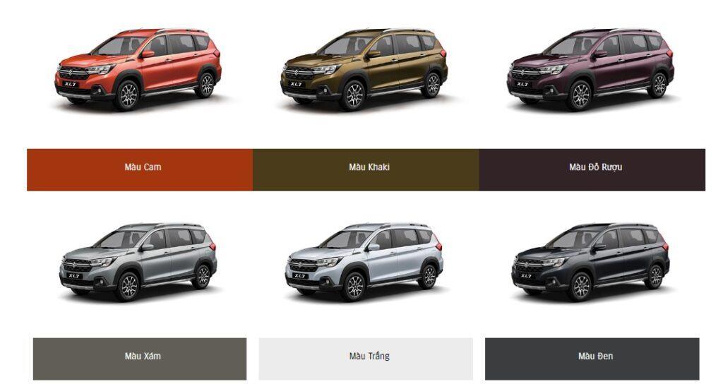 Suzuki XL7 có mấy màu